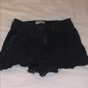 Women's Black Ripped End Shorts SIZE 26